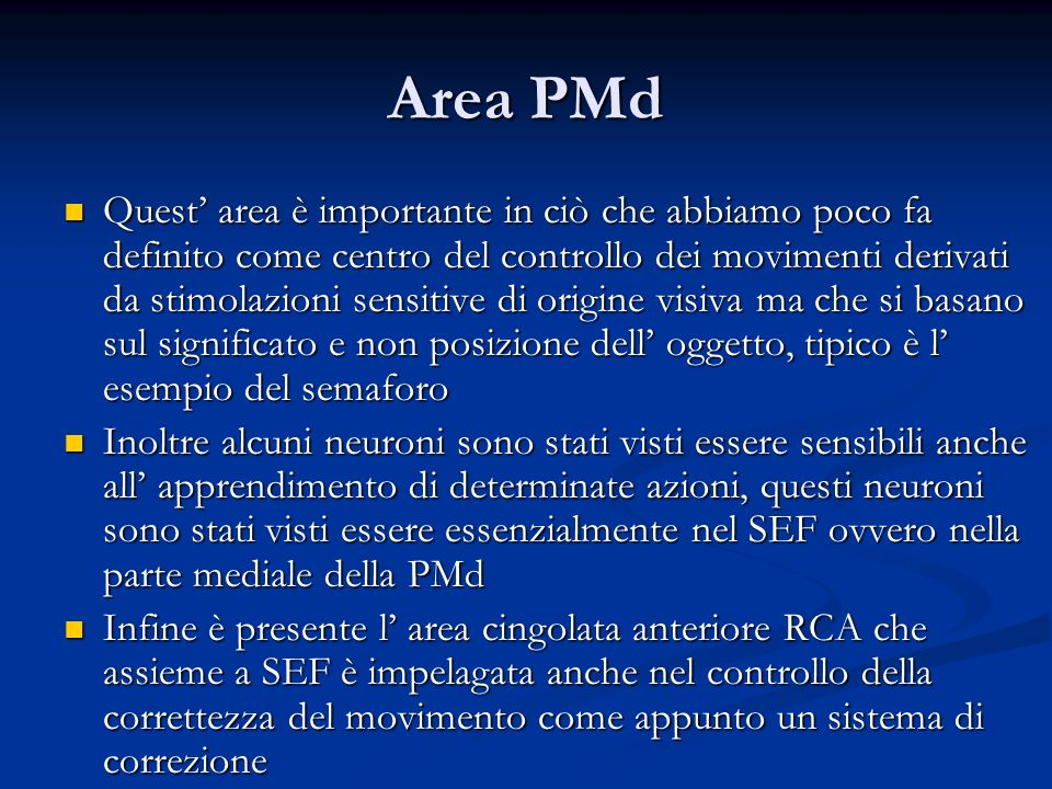 Area PMd