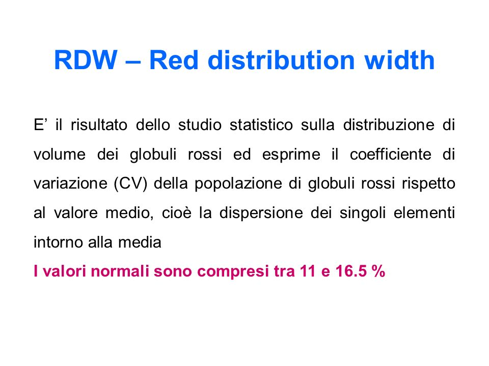 RDW – Red distribution width