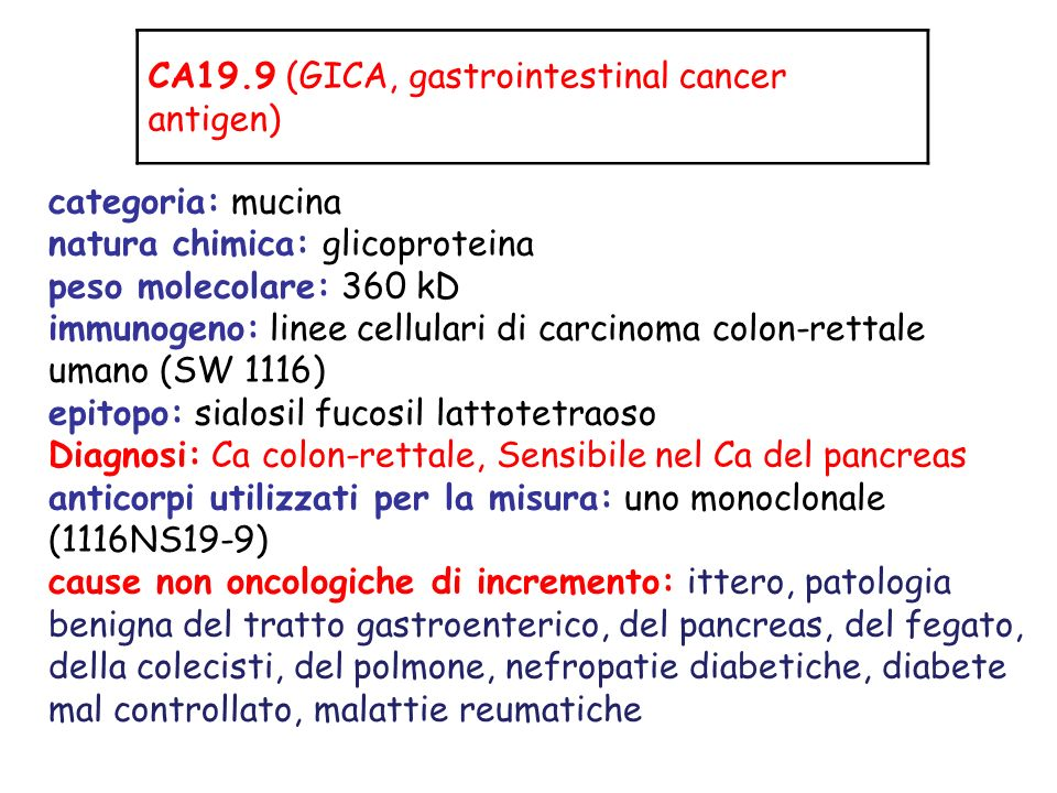 CA19.9 (GICA, gastrointestinal cancer antigen)