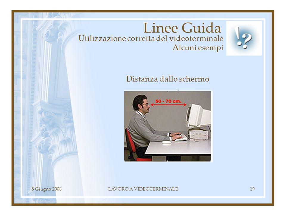 Linee Guida Utilizzazione corretta del videoterminale Alcuni esempi