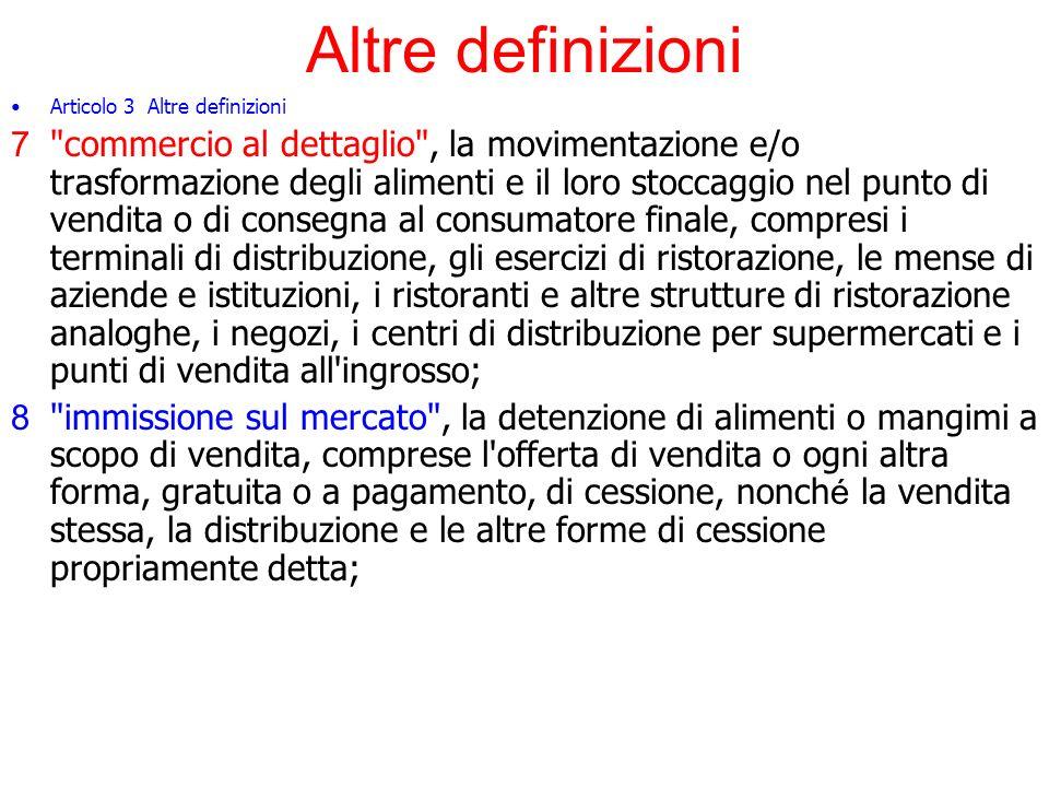 Altre definizioni Articolo 3 Altre definizioni.