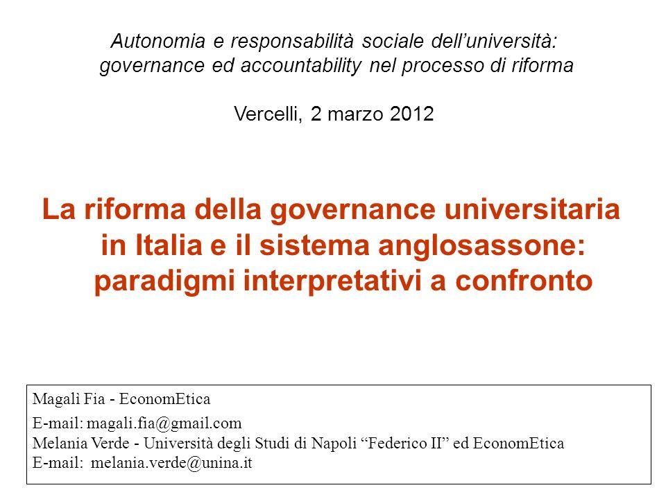 Autonomia e responsabilità sociale dell'università: