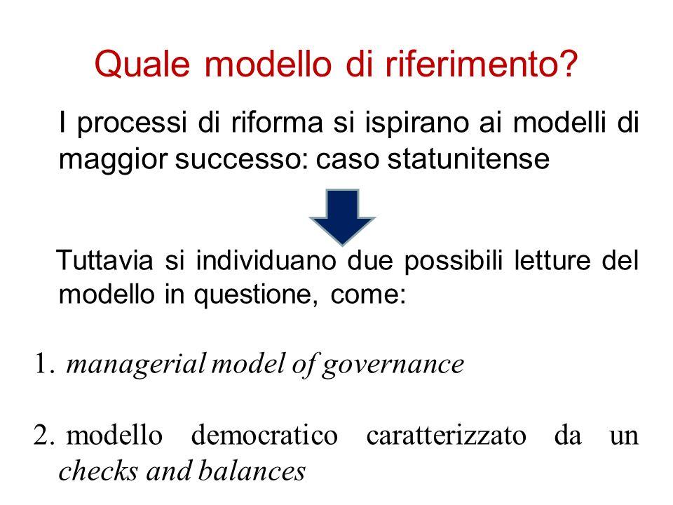 Quale modello di riferimento