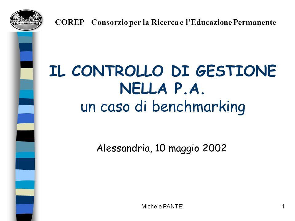 IL CONTROLLO DI GESTIONE NELLA P.A. un caso di benchmarking