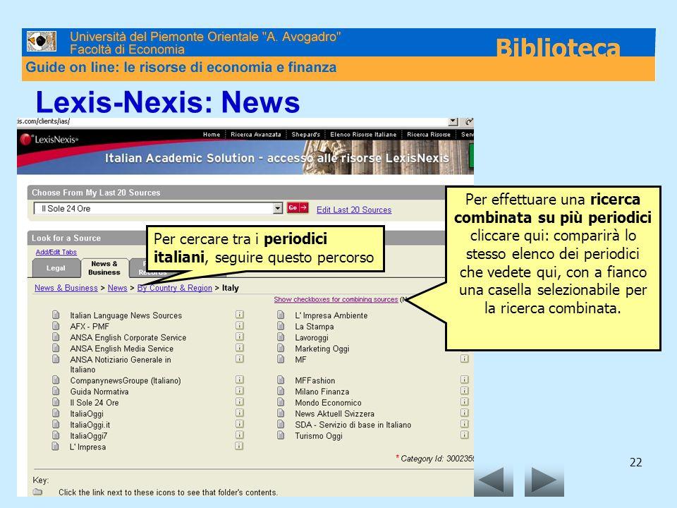 Lexis-Nexis: News