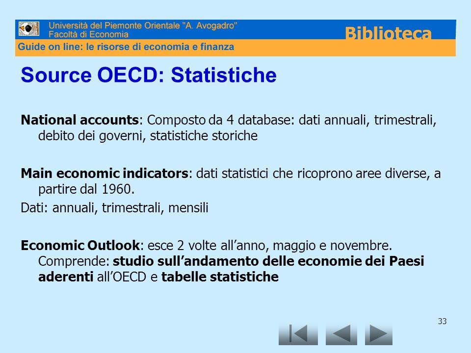 Source OECD: Statistiche