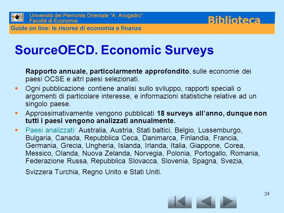 SourceOECD. Economic Surveys