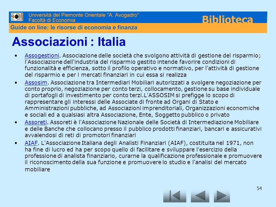 Associazioni : Italia