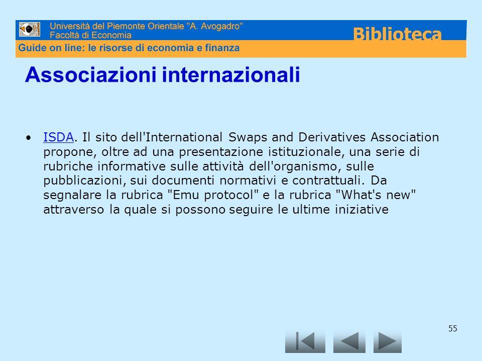 Associazioni internazionali