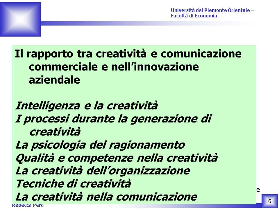 Il rapporto tra creatività e comunicazione commerciale e nell'innovazione aziendale