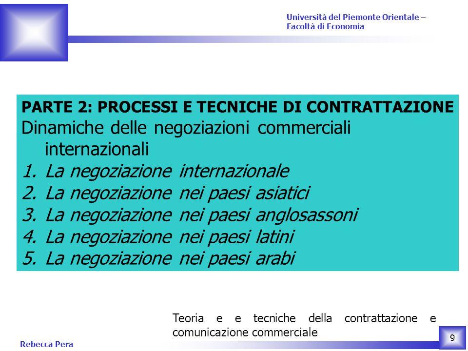 Dinamiche delle negoziazioni commerciali internazionali