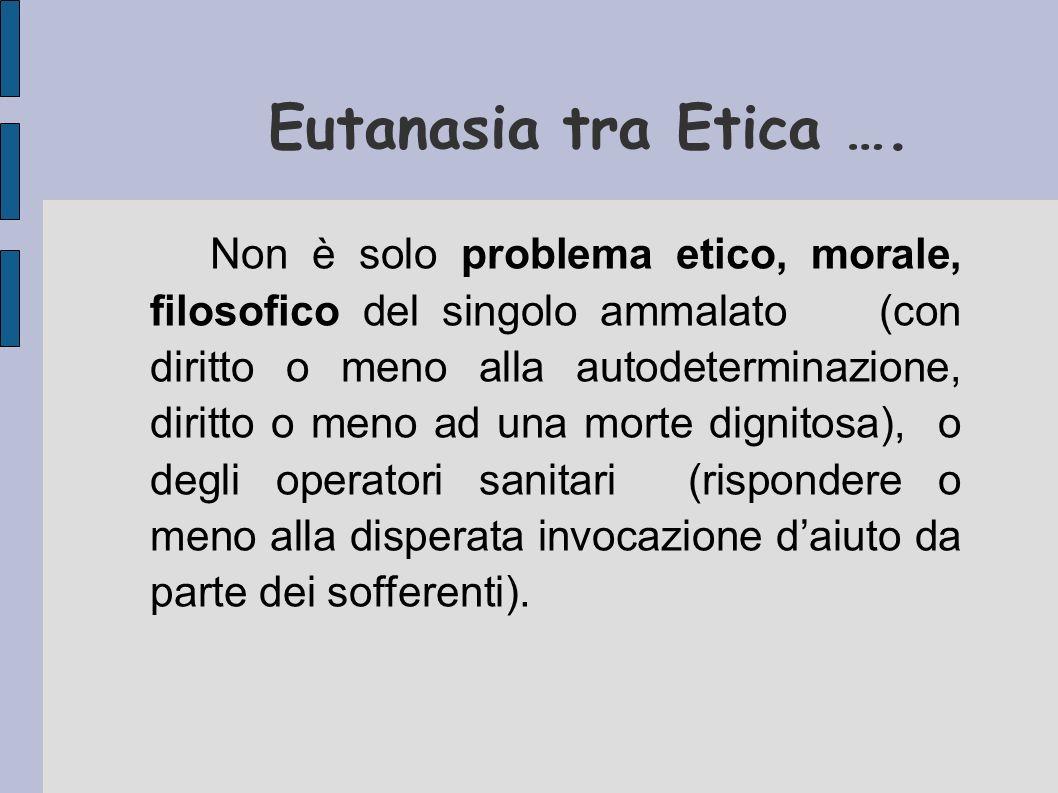 Eutanasia tra Etica ….
