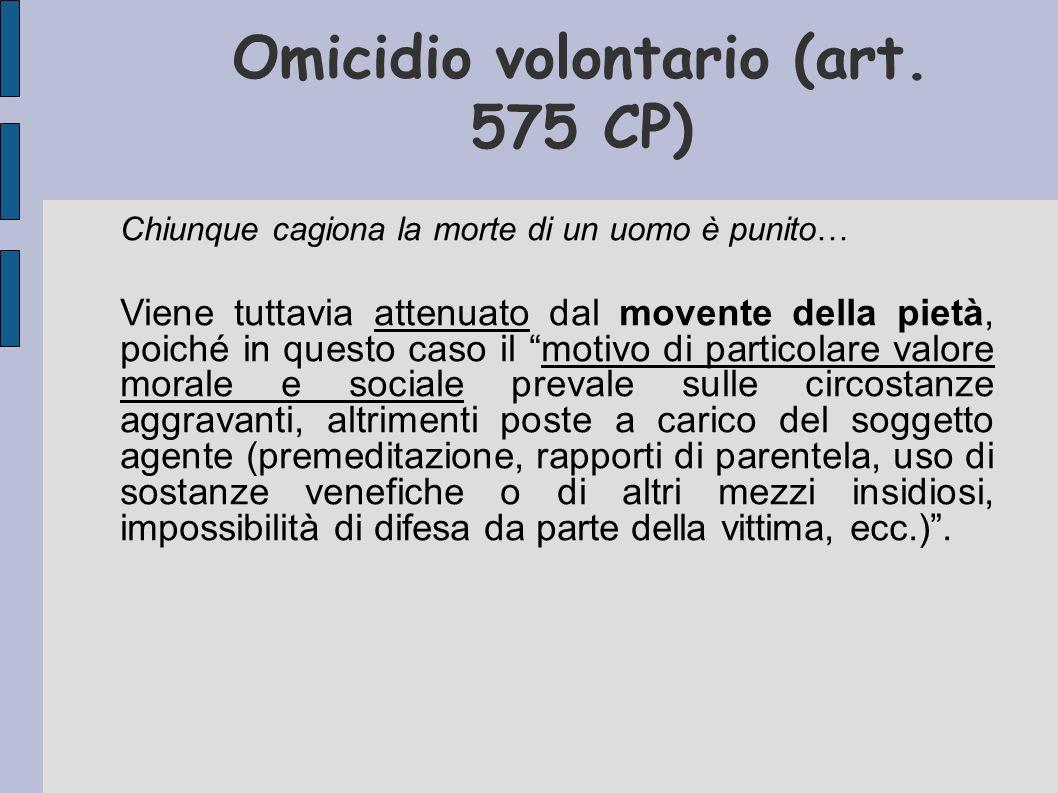 Omicidio volontario (art. 575 CP)