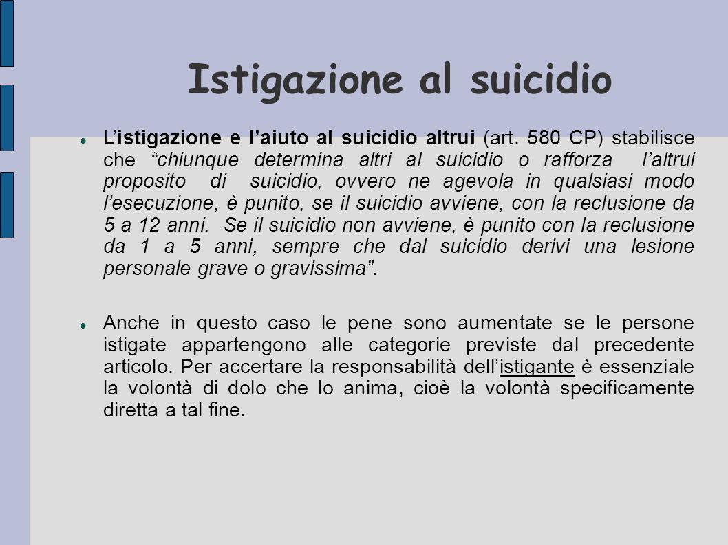 Istigazione al suicidio