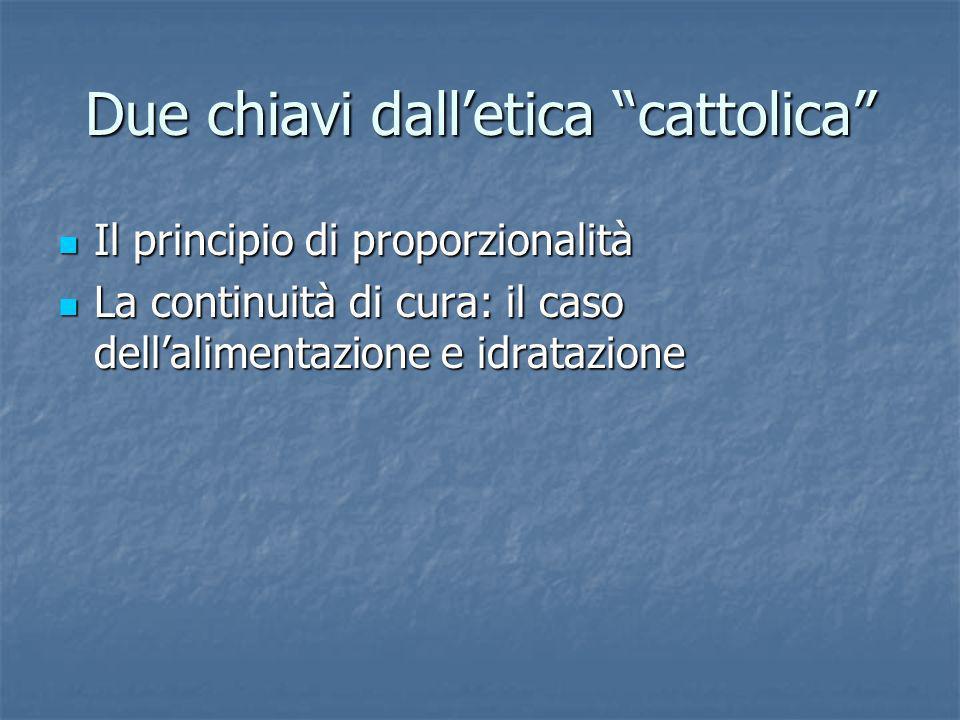 Due chiavi dall'etica cattolica