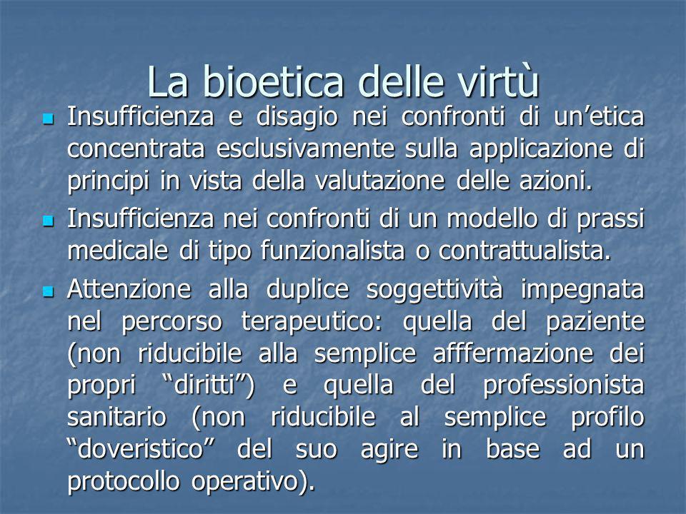 La bioetica delle virtù