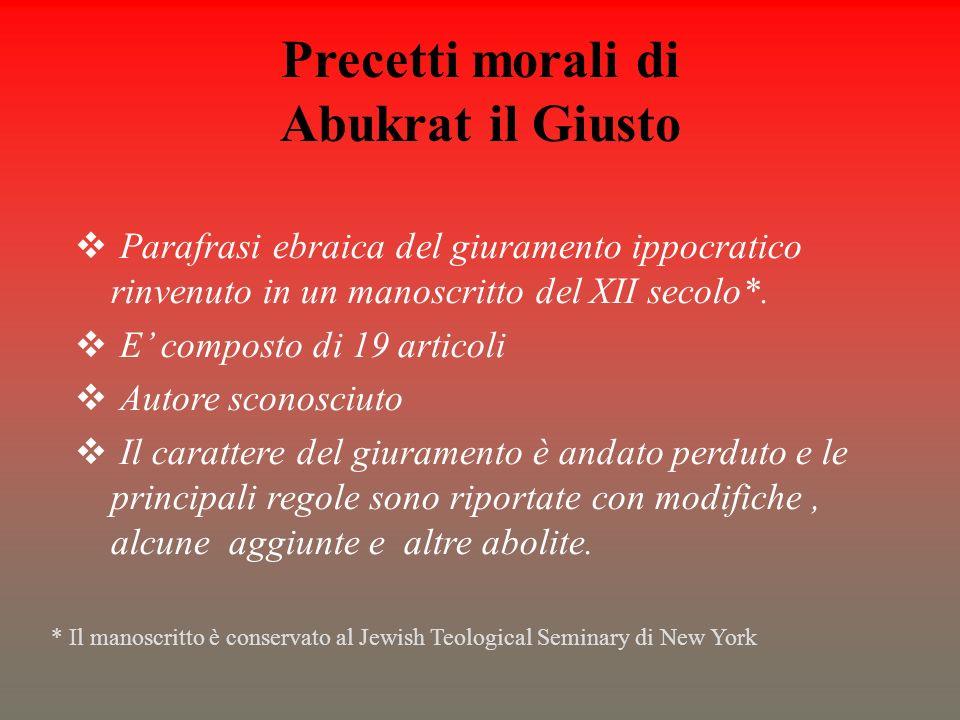 Precetti morali di Abukrat il Giusto
