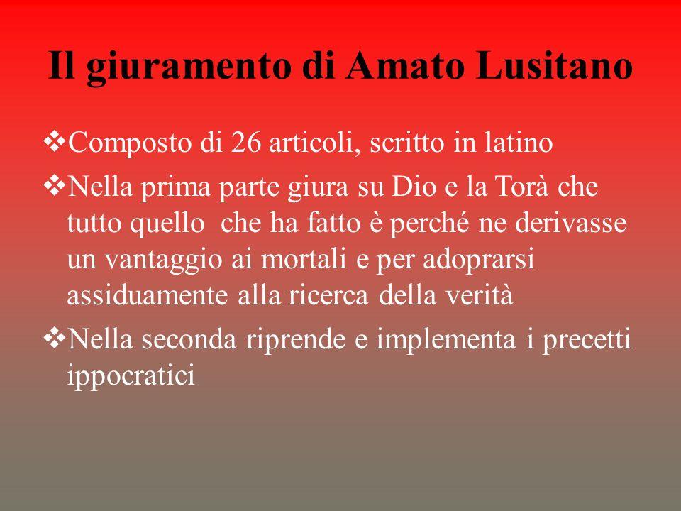 Il giuramento di Amato Lusitano