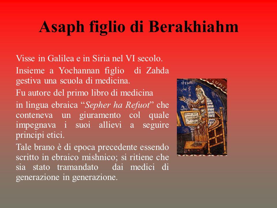 Asaph figlio di Berakhiahm