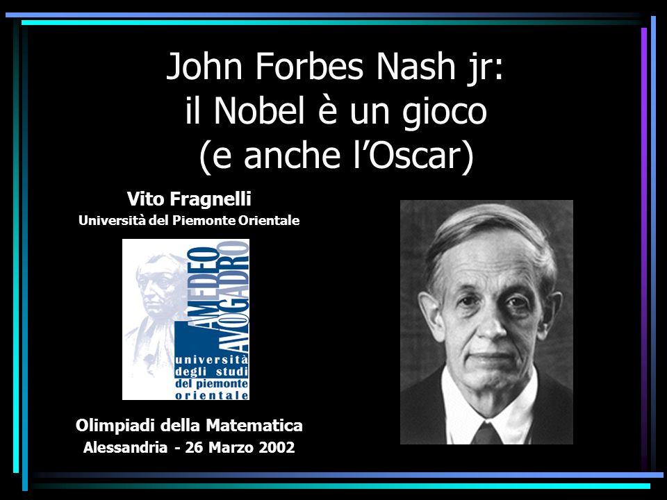 John Forbes Nash jr: il Nobel è un gioco (e anche l'Oscar)