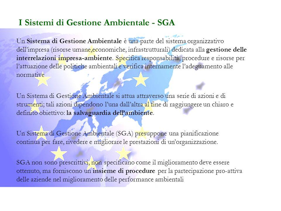 I Sistemi di Gestione Ambientale - SGA