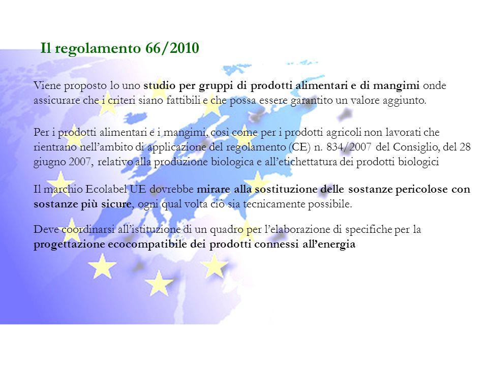 Il regolamento 66/2010