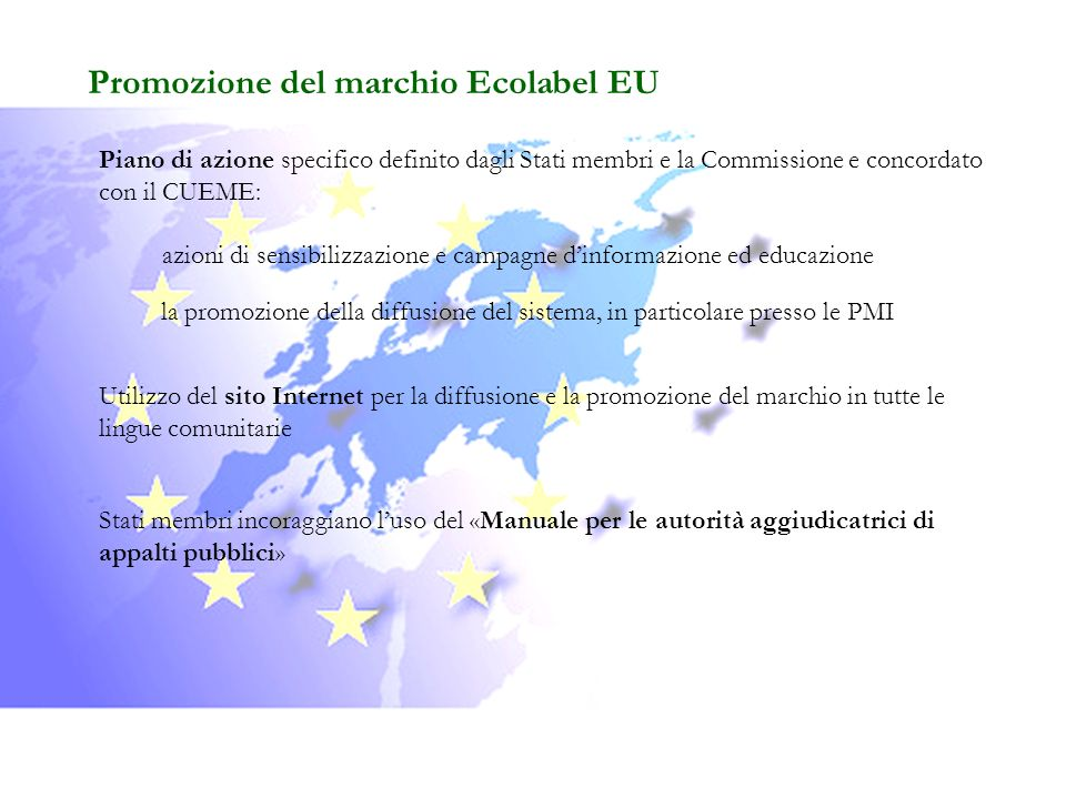 Promozione del marchio Ecolabel EU