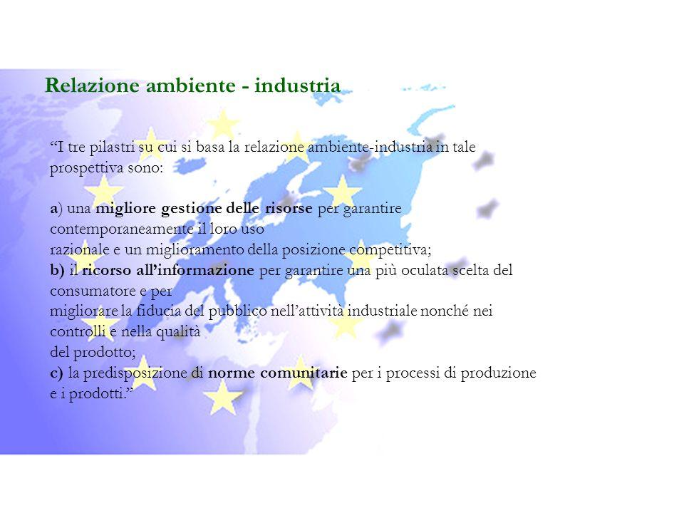Relazione ambiente - industria