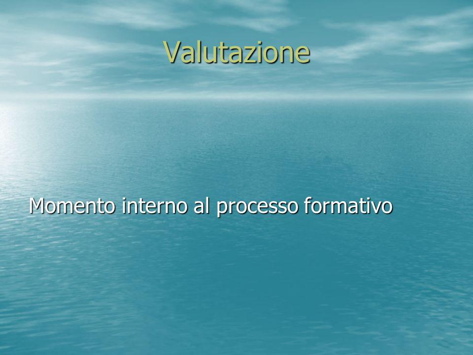 Valutazione Momento interno al processo formativo