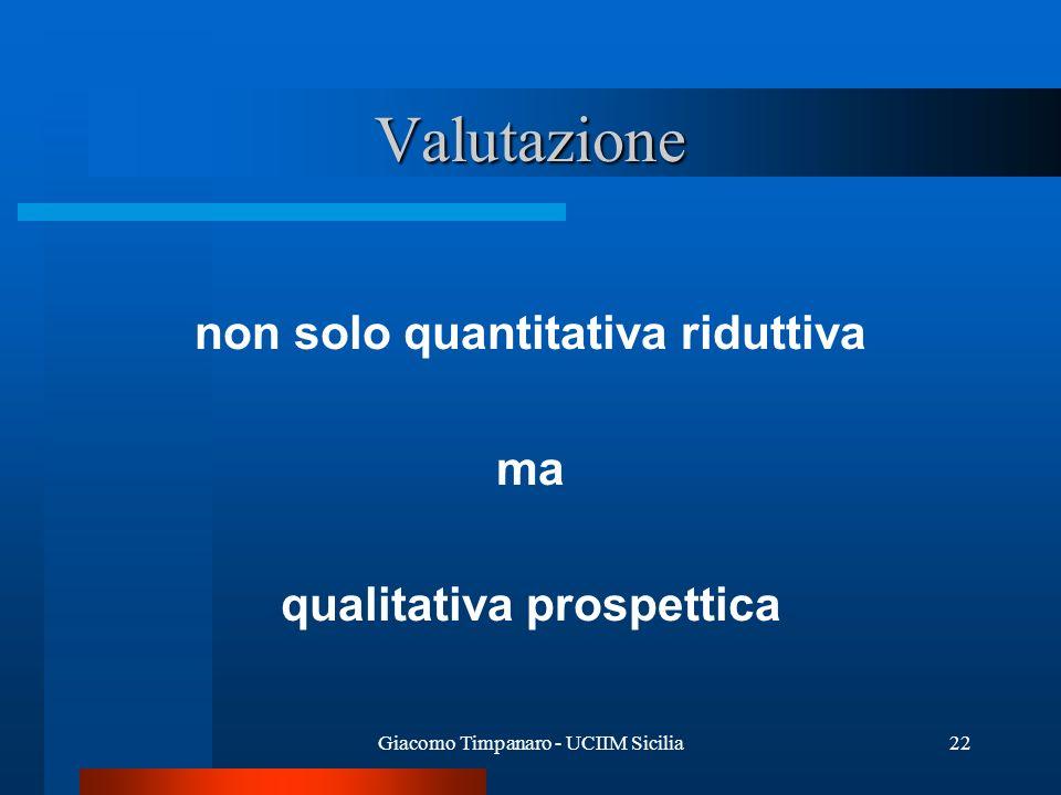 non solo quantitativa riduttiva qualitativa prospettica