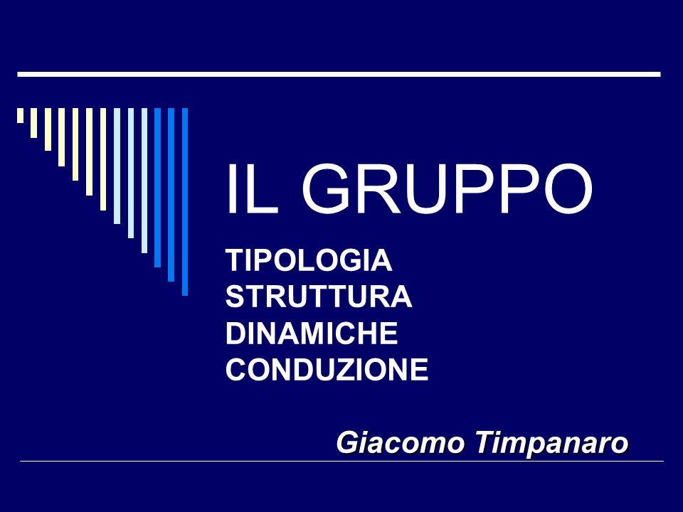 TIPOLOGIA STRUTTURA DINAMICHE CONDUZIONE Giacomo Timpanaro