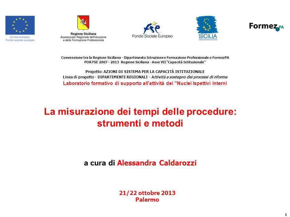 La misurazione dei tempi delle procedure: strumenti e metodi