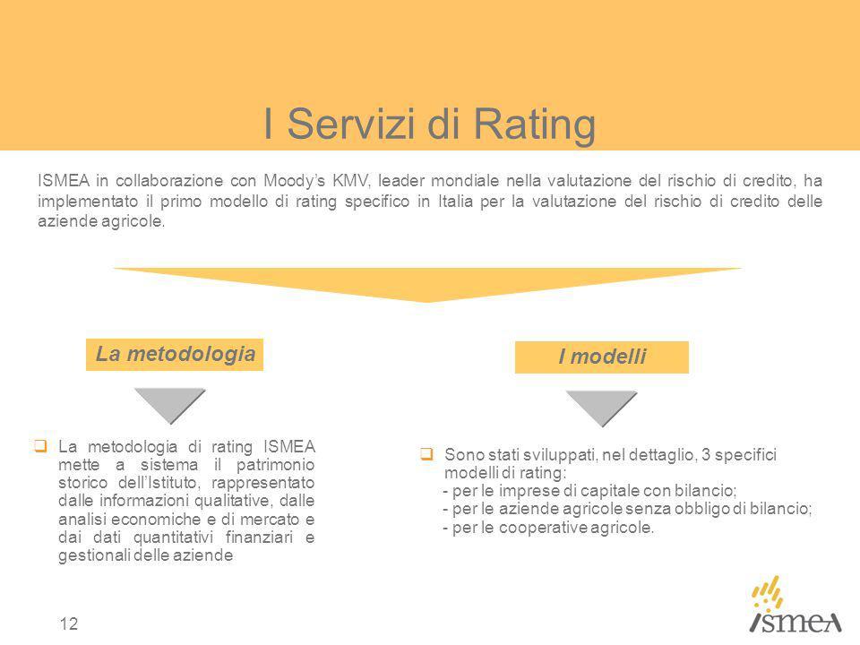 I Servizi di Rating La metodologia I modelli