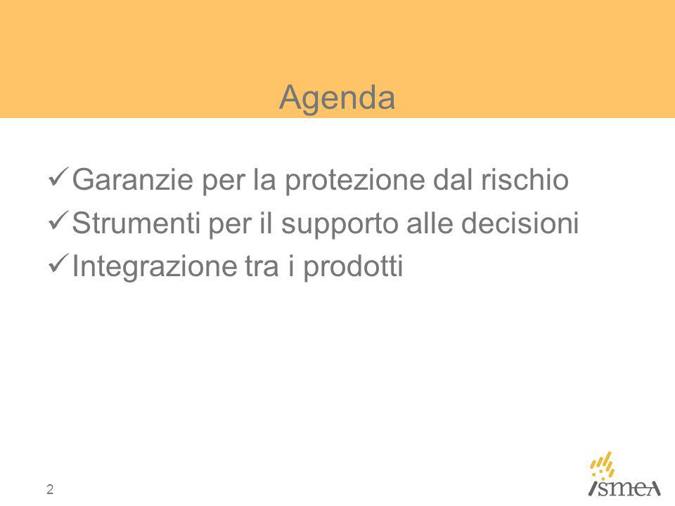 Agenda Garanzie per la protezione dal rischio
