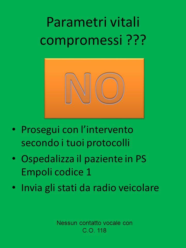 Parametri vitali compromessi