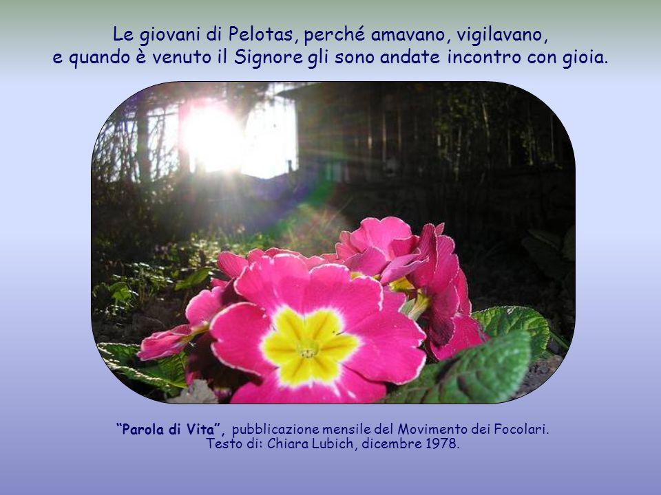 Le giovani di Pelotas, perché amavano, vigilavano, e quando è venuto il Signore gli sono andate incontro con gioia.