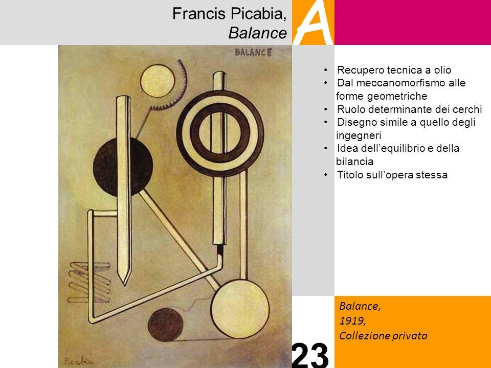 A 23 Francis Picabia, Balance Balance, 1919, Collezione privata