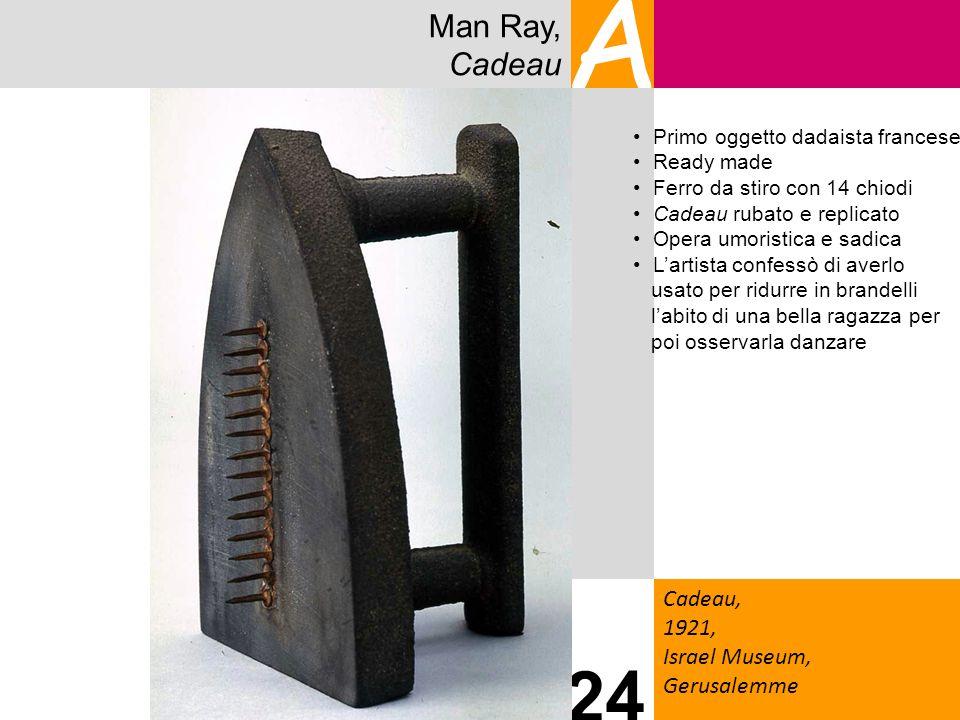 A 24 Man Ray, Cadeau Cadeau, 1921, Israel Museum, Gerusalemme