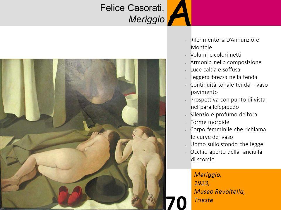 A 70 Felice Casorati, Meriggio Meriggio, 1923, Museo Revoltella,