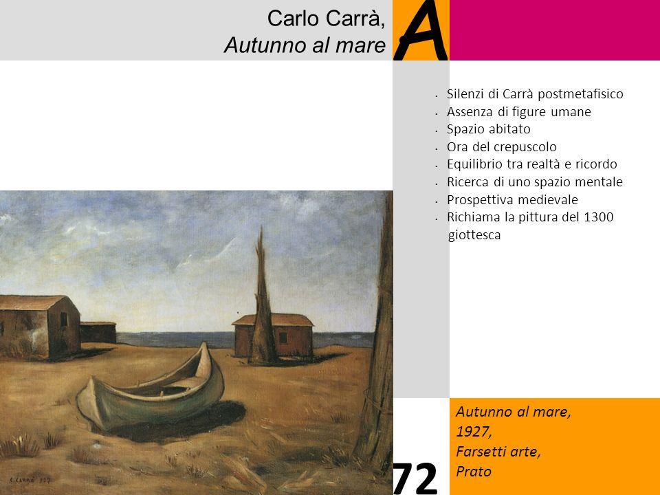 A 72 Carlo Carrà, Autunno al mare Autunno al mare, 1927,