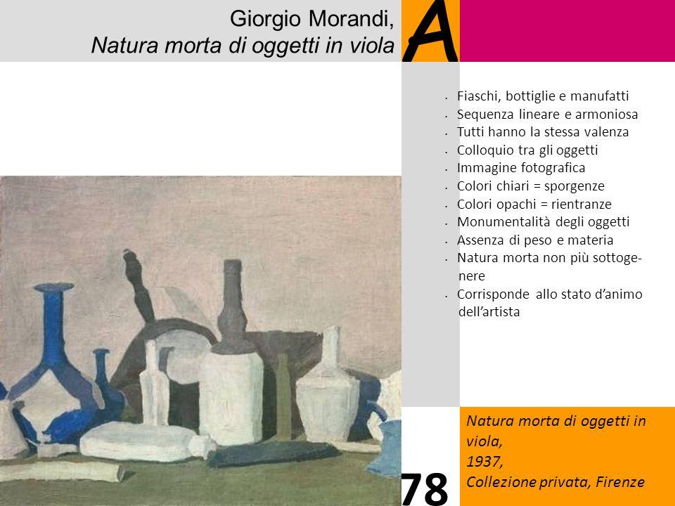 A 78 Giorgio Morandi, Natura morta di oggetti in viola