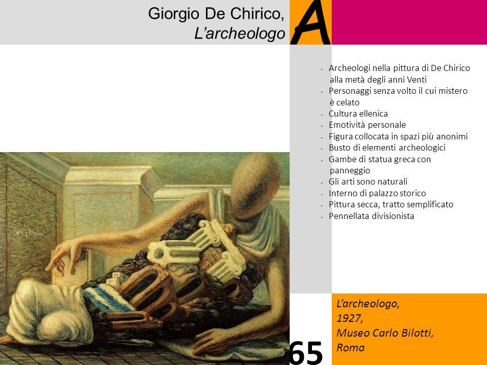 A 65 Giorgio De Chirico, L'archeologo L'archeologo, 1927,