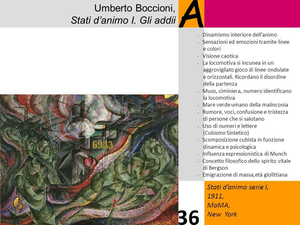 A 36 Umberto Boccioni, Stati d'animo I. Gli addii 1