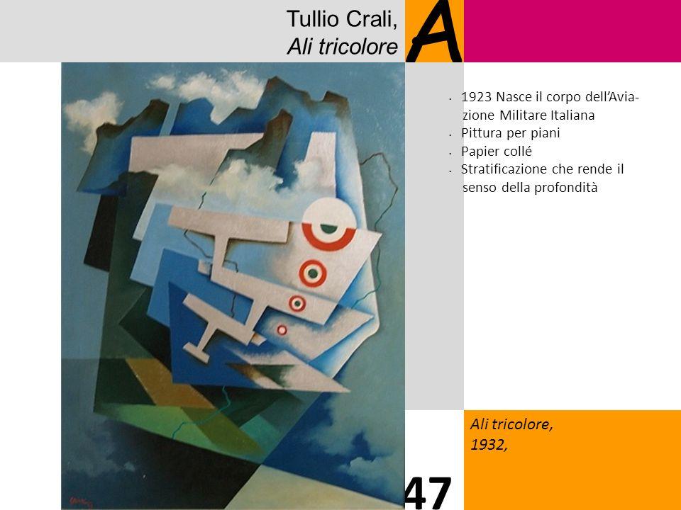 A 47 Tullio Crali, Ali tricolore 1313 Ali tricolore, 1932,