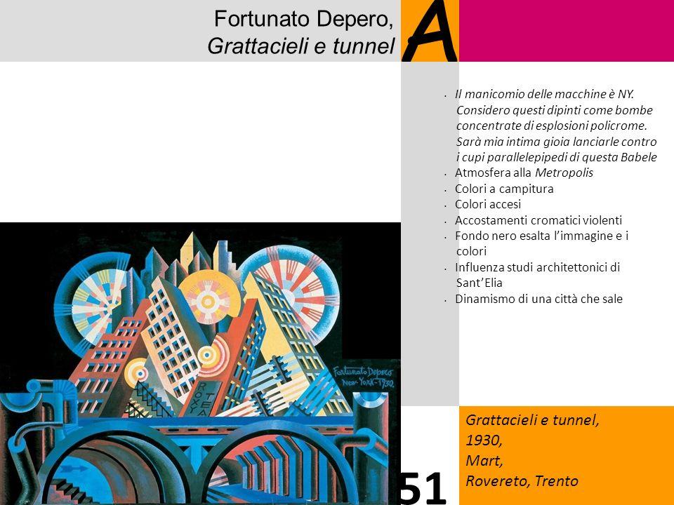 A 51 Fortunato Depero, Grattacieli e tunnel 1717 Grattacieli e tunnel,
