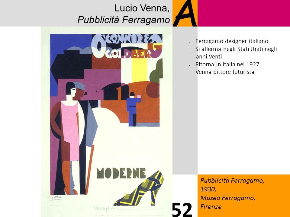 A 52 Lucio Venna, Pubblicità Ferragamo 1818 Pubblicità Ferragamo,