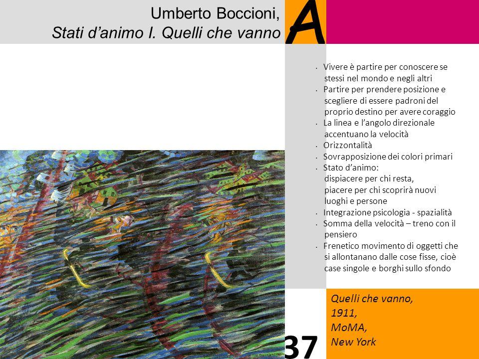 A 37 Umberto Boccioni, Stati d'animo I. Quelli che vanno 2