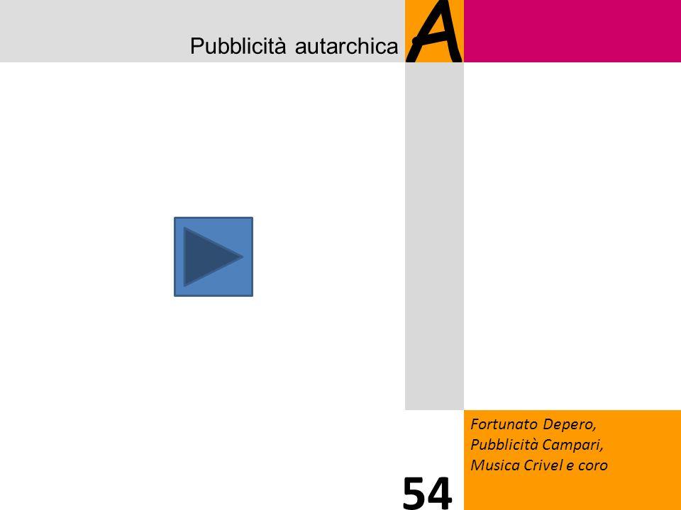 A 54 Pubblicità autarchica 2020 Fortunato Depero, Pubblicità Campari,