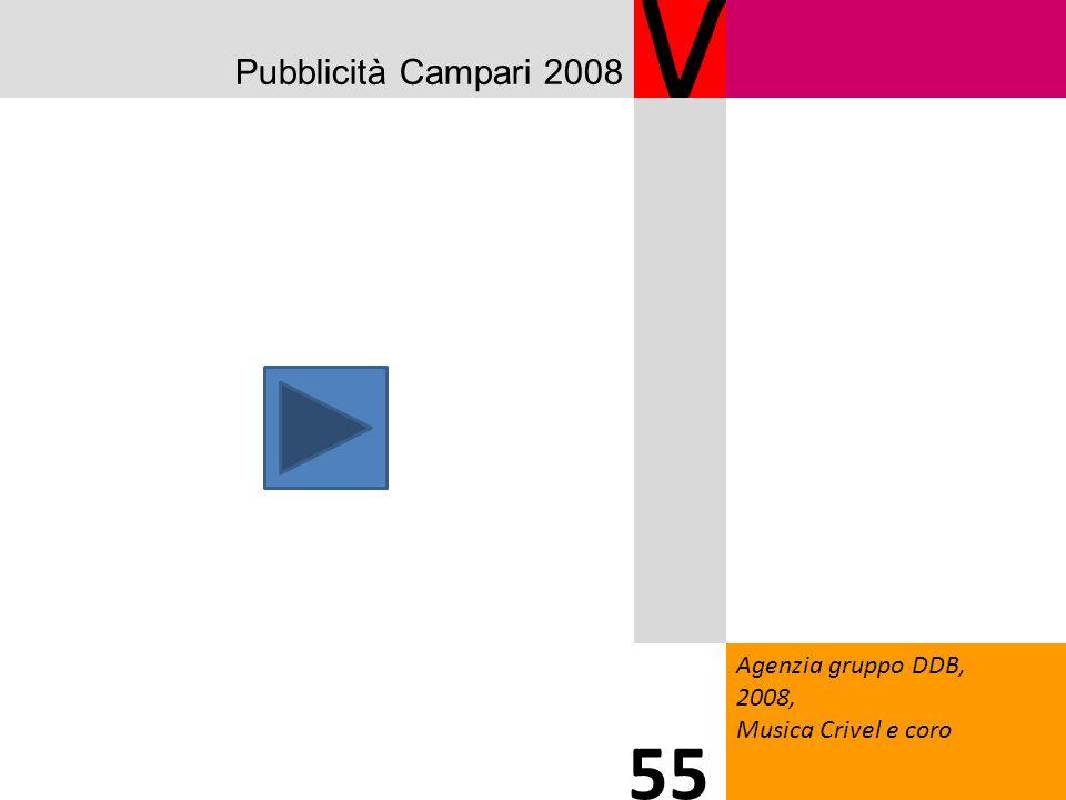 V 55 Pubblicità Campari 2008 2121 Agenzia gruppo DDB, 2008,