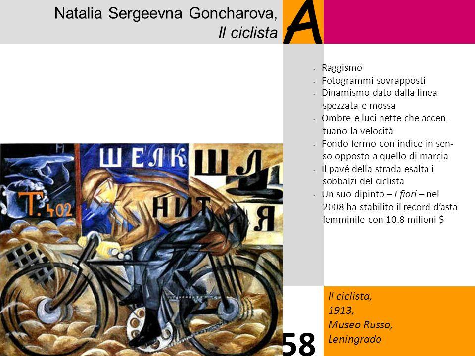 A 58 Natalia Sergeevna Goncharova, Il ciclista Il ciclista, 1913,